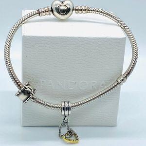 PANDORA Interlocked Hearts Dangle Charm